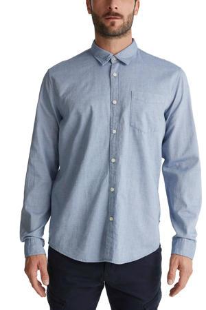 regular fit overhemd van biologisch katoen lichtblauw