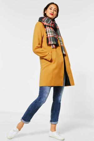 coat tussen okergeel