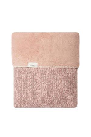 Vigo teddy baby wiegdeken 75x100 cm Old Pink/Shadow Pink
