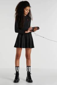 Zigga coated jurk zwart, Zwart
