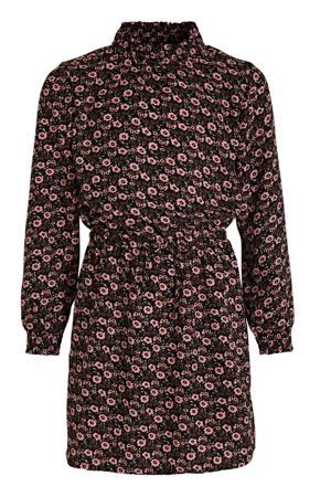 gebloemde jurk roze/bruin