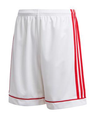 Junior  voetbalshort wit/rood