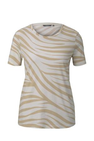 T-shirt met zebraprint ecru/beige