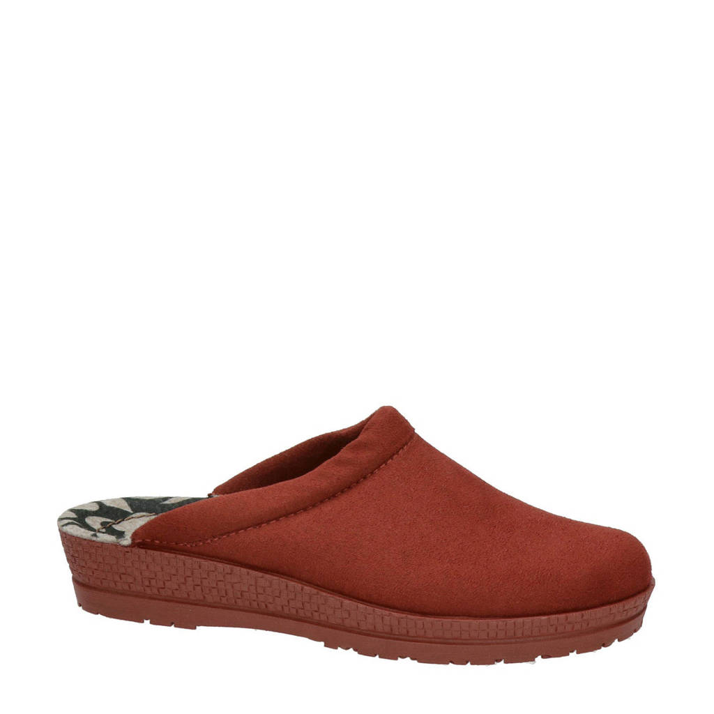 Rohde pantoffels rood, Rood multi