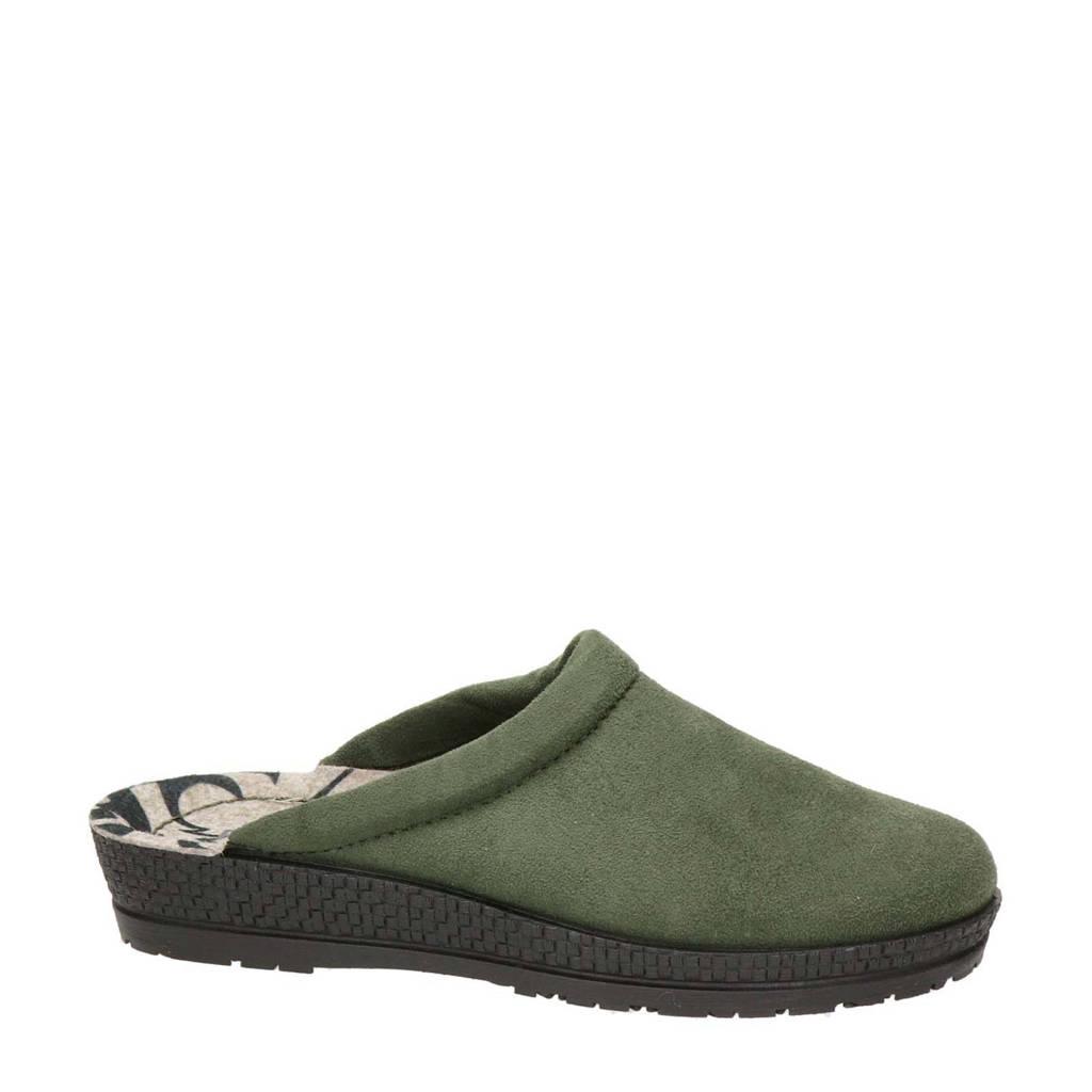 Rohde pantoffels kaki, Kaki/groen