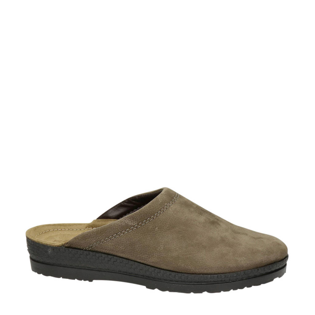 Rohde nubuck pantoffels bruin, Bruin