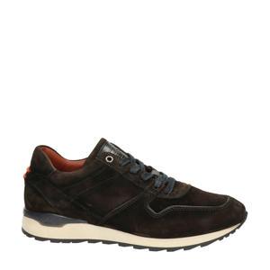 suède sneakers donkerbruin