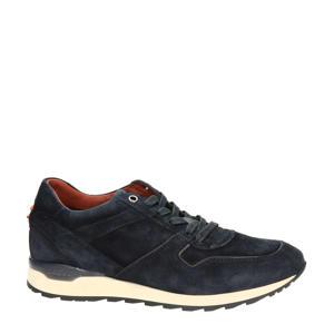 suede sneakers donkerblauw