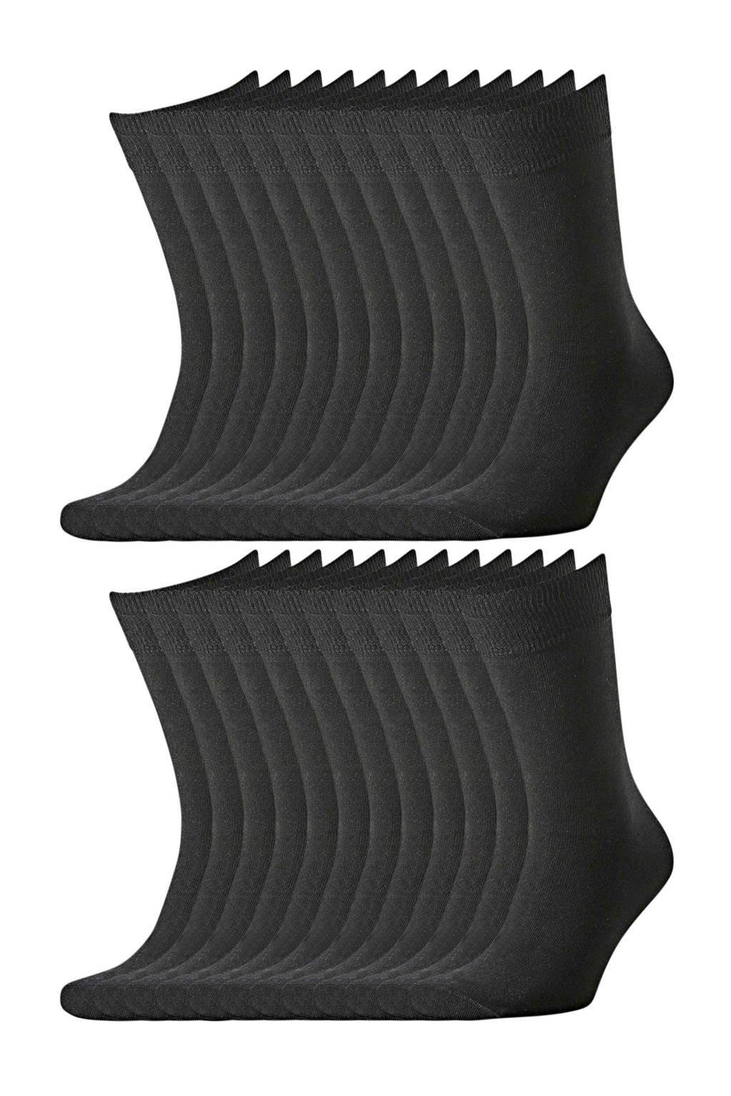 C&A Legwear sokken - set van 20 zwart, Zwart