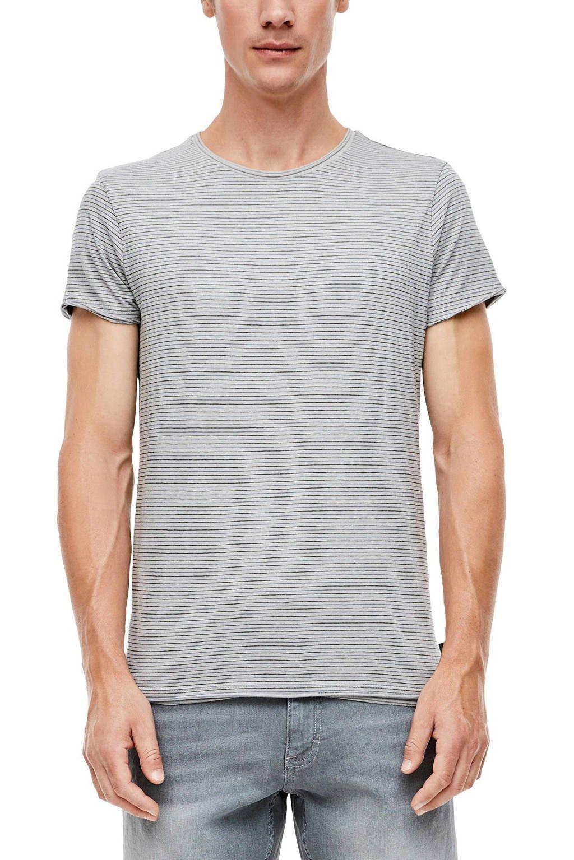 Q/S designed by gestreept T-shirt grijs/wit, Grijs/wit