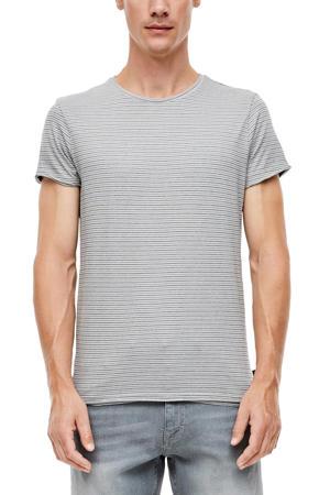 gestreept T-shirt grijs/wit
