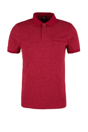 gemêleerde slim fit polo donkerrood