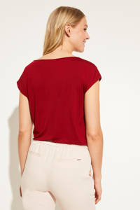 comma T-shirt met all over print rood, Rood