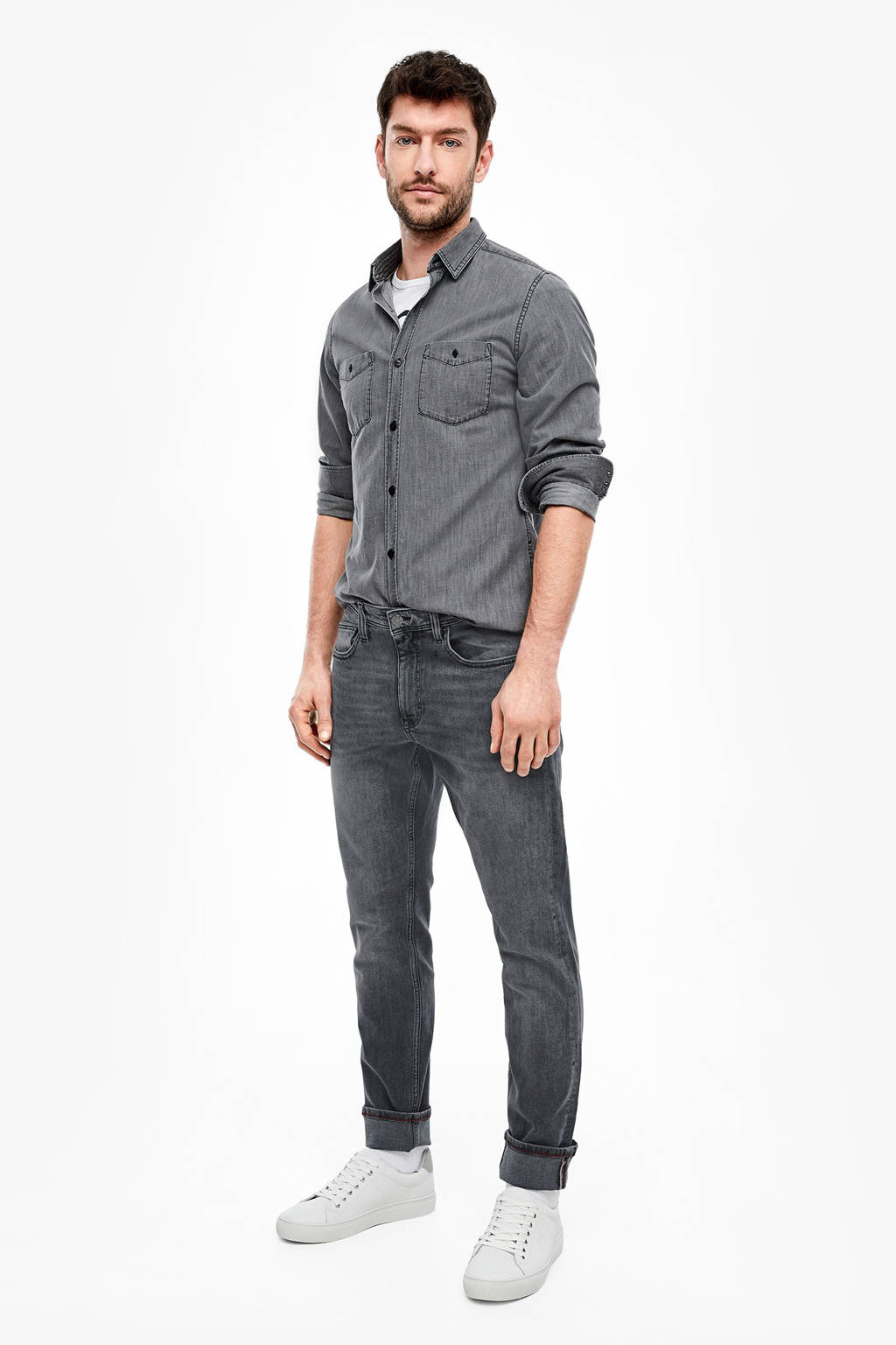 s.Oliver slim fit jeans grijs, Grijs