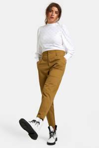 Eksept by Shoeby high waist tapered fit broek Sanne light brown, Light Brown