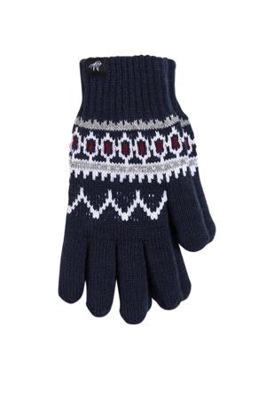 handschoenen donkerblauw/wit