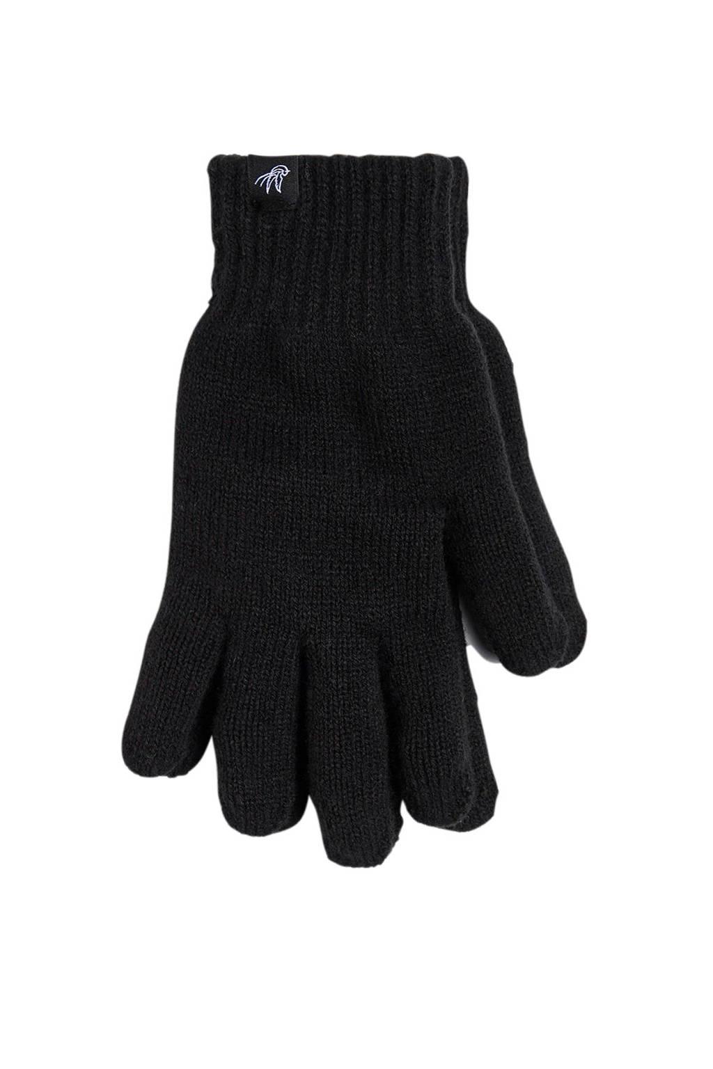WE Fashion handschoenen zwart, Black Uni