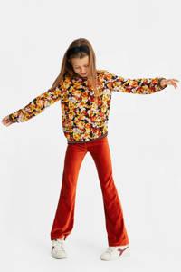 WE Fashion gebloemde top geel/oranje/zwart, Geel/oranje/zwart