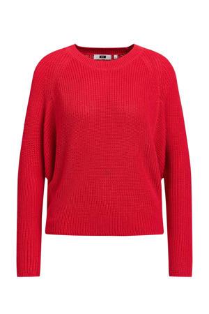 gebreide trui sugar rood