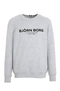 Björn Borg   sportsweater met logo lichtgrijs melange, Lichtgrijs melange