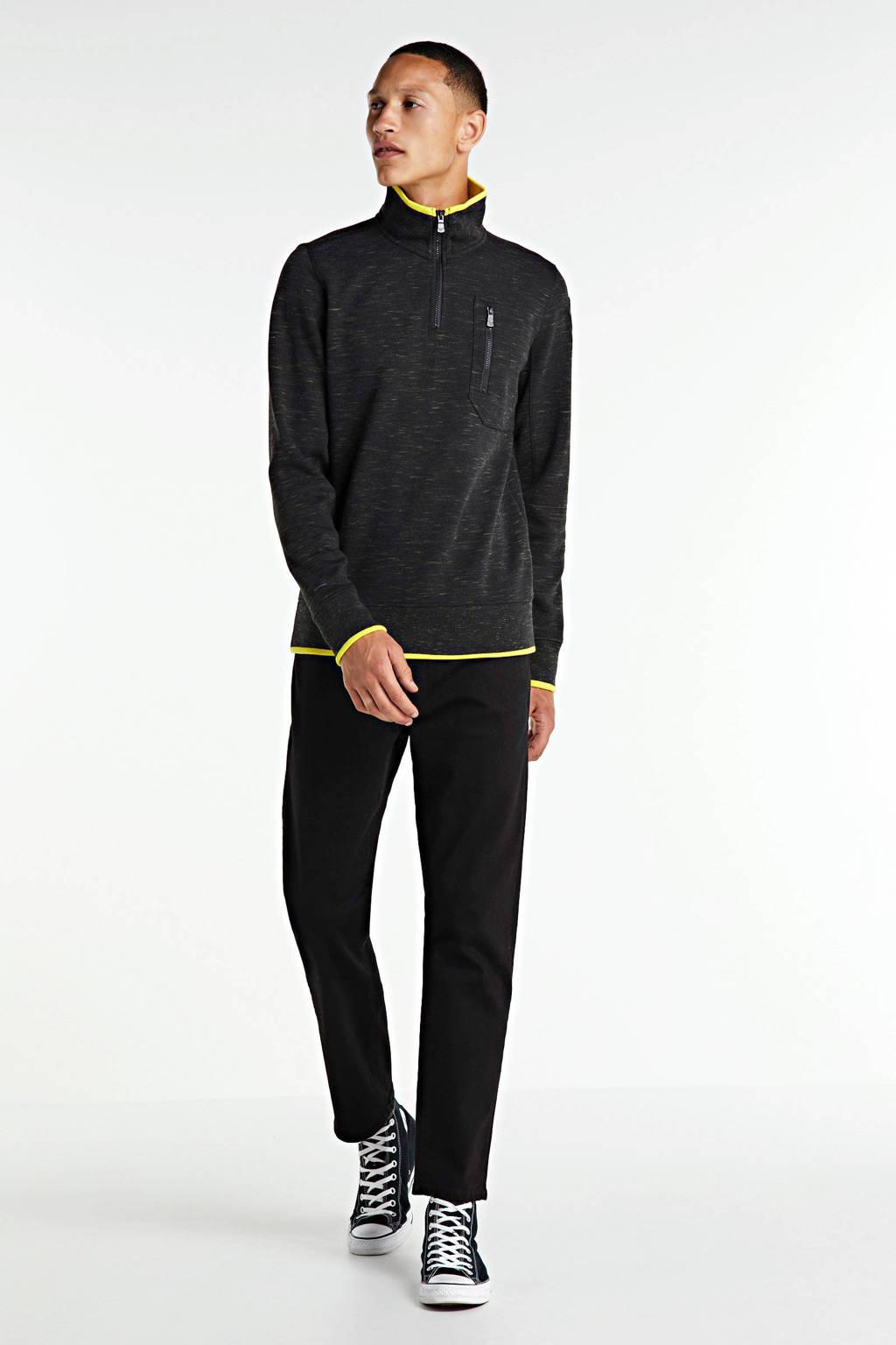SELECTED HOMME straight fit jeans Scott zwart, Zwart