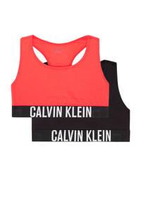 CALVIN KLEIN bh top - set van 2 rood/zwart, Zwart/rood