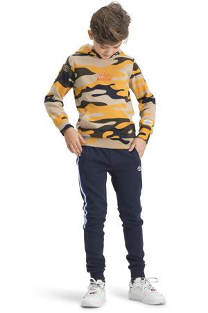 hoodie Nemano met camouflageprint beige/oranje/zwart