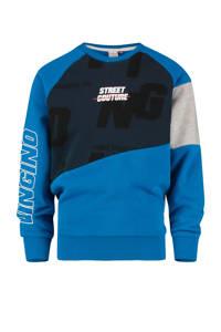 Vingino sweater Nagdo blauw/donkerblauw/grijs, Blauw/donkerblauw/grijs