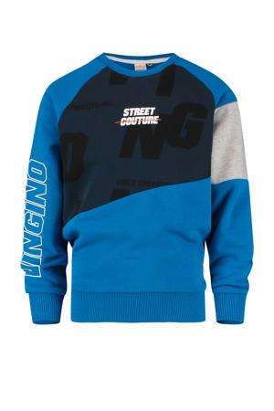 sweater Nagdo blauw/donkerblauw/grijs