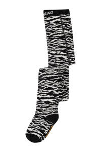Vingino maillot Vela met zebraprint zwart/wit, Zwart/wit