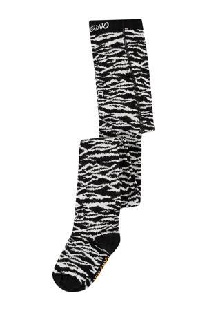 maillot Vela met zebraprint zwart/wit