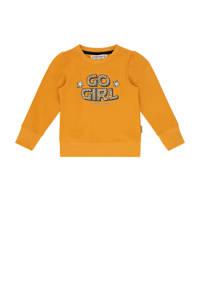Vingino sweater Niska mini met tekst okergeel, Okergeel