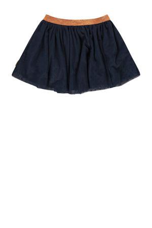 rok Qwen mini met glitters donkerblauw