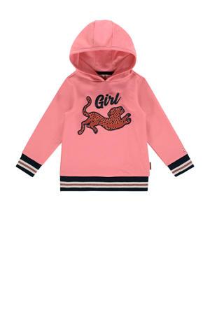 hoodie Noa mini met printopdruk roze