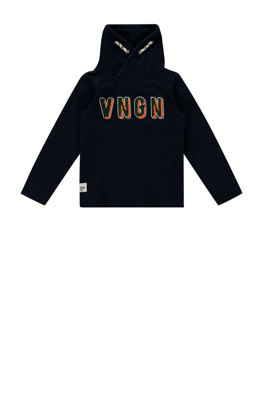 Vingino sweater Janiro mini met logo donkerblauw, Donkerblauw