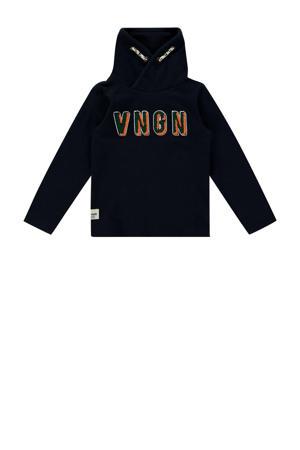 sweater Janiro mini met logo donkerblauw