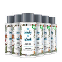 Love Beauty and Planet Coconut Water & Mimosa Flower Volume and Bounty conditioner - 6 x 400ml