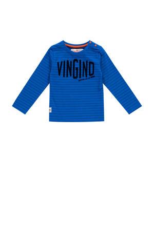longsleeve Jonne mini met logo blauw