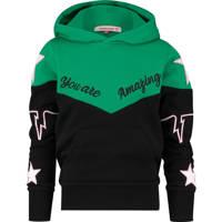 Vingino hoodie Nelke gras groen/zwart, Gras groen/zwart