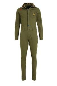 Vingino jumpsuit Pantries met tekst army groen, Army groen