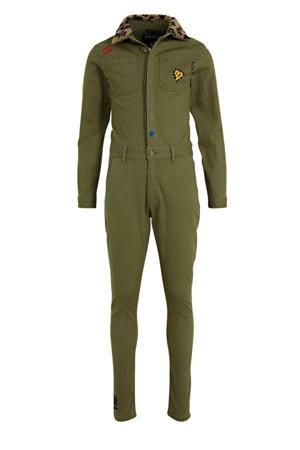 jumpsuit Pantries met tekst army groen