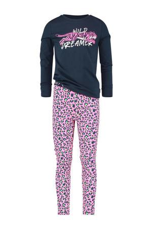pyjama Wanneke donkerblauw/roze