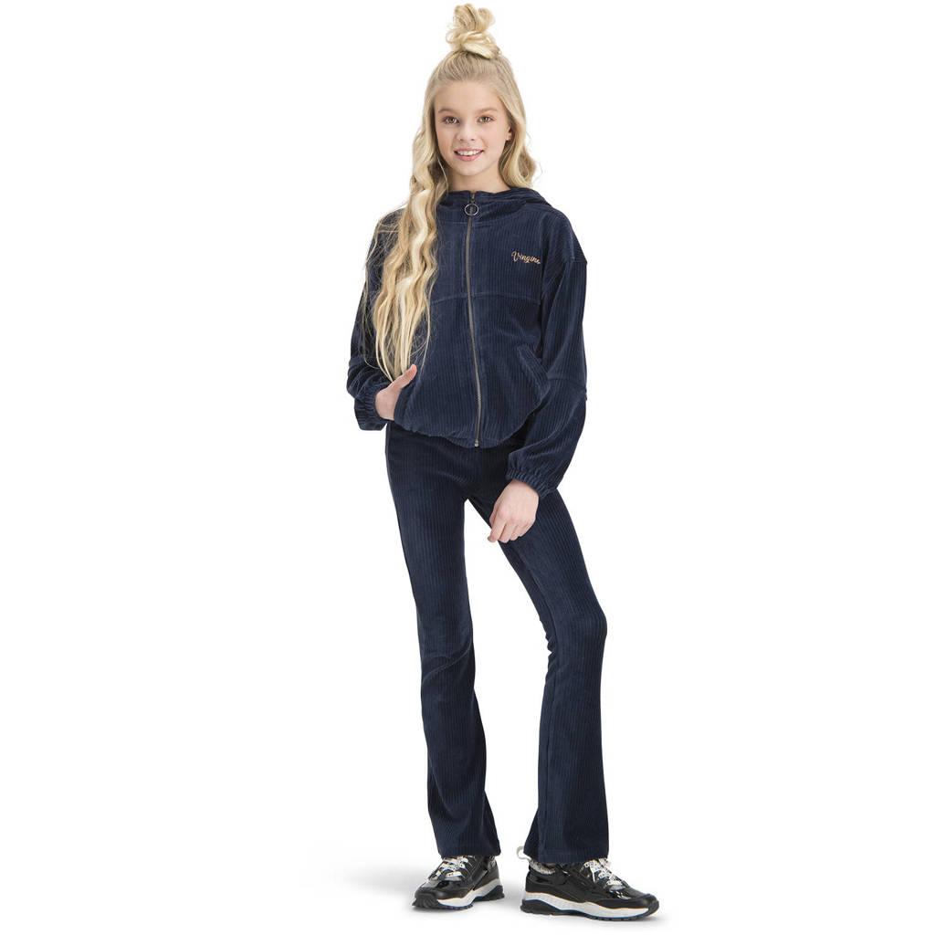 Vingino corduroy flared broek Sari donkerblauw, Donkerblauw