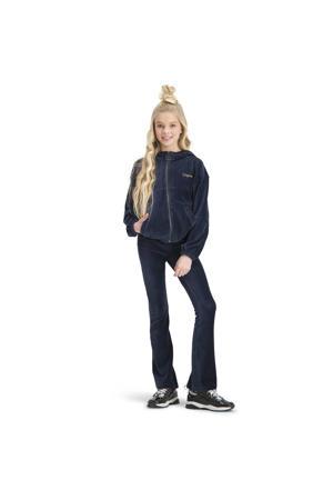 corduroy flared broek Sari donkerblauw