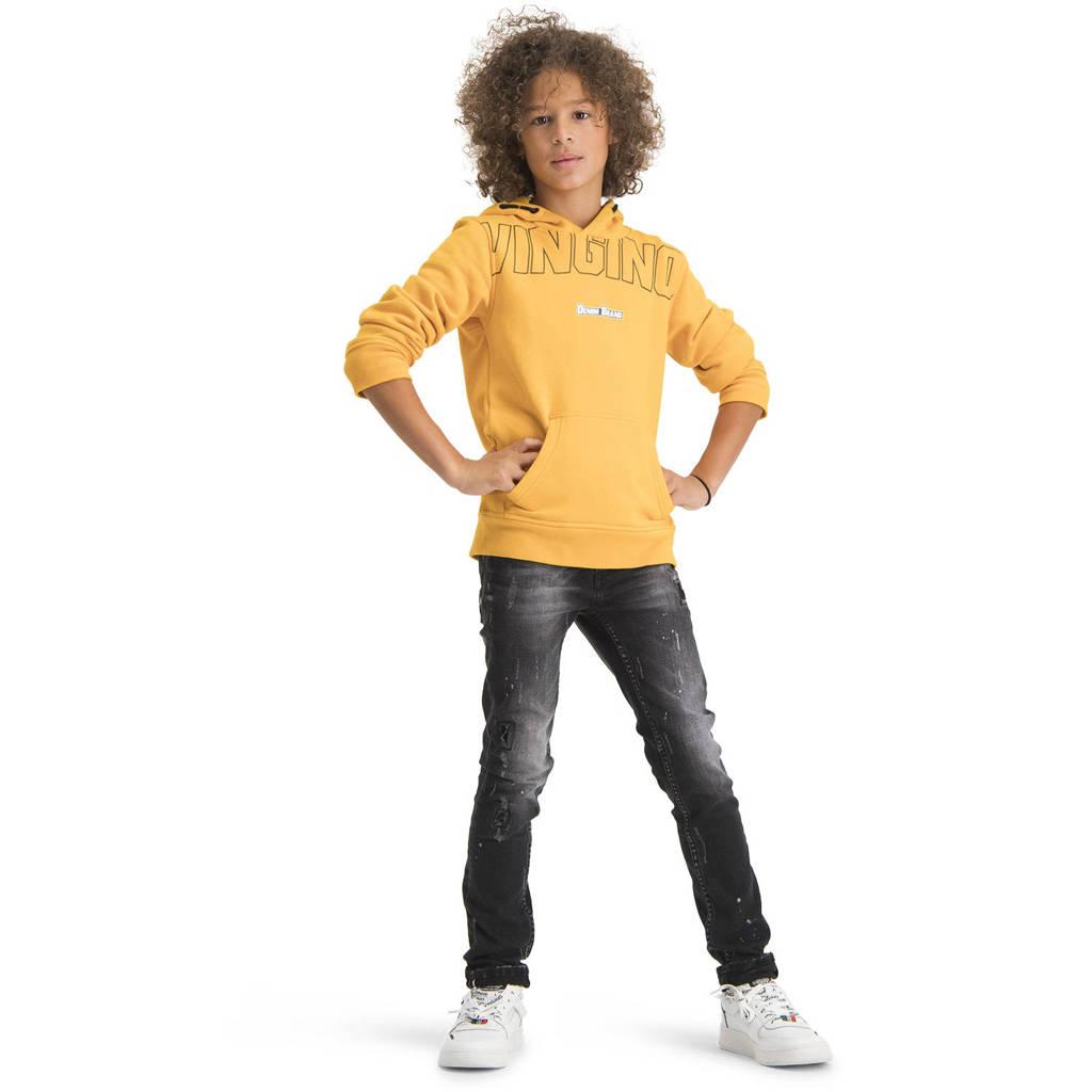 Vingino hoodie Nastano met logo goudgeel, Goudgeel