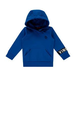 hoodie Nevin mini met logo blauw