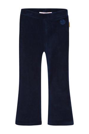 fluwelen flared broek Sarien mini donkerblauw