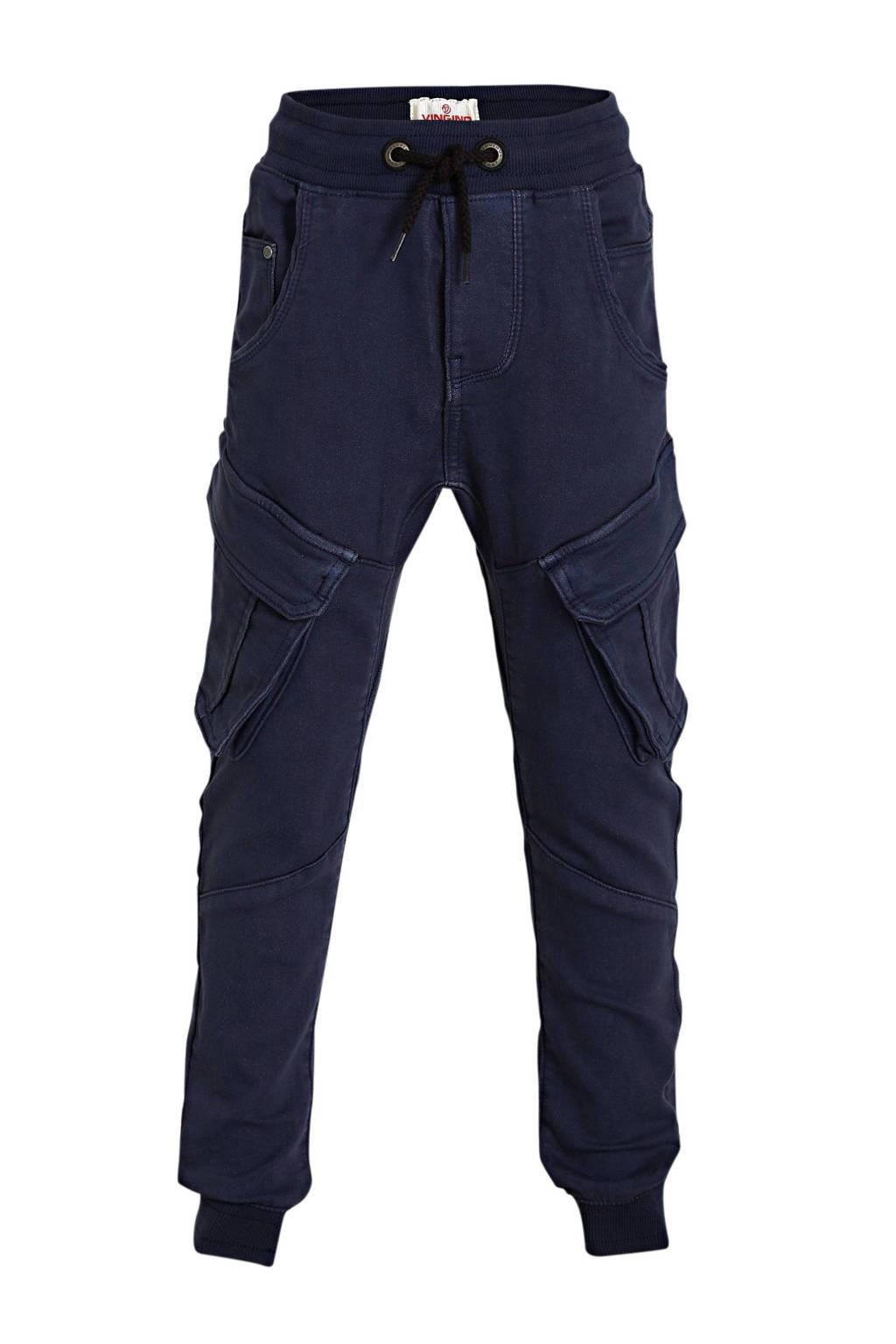 Vingino loose fit cargobroek Carlos donkerblauw, Donkerblauw