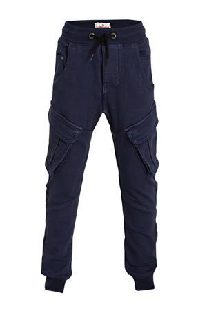 loose fit cargobroek Carlos donkerblauw