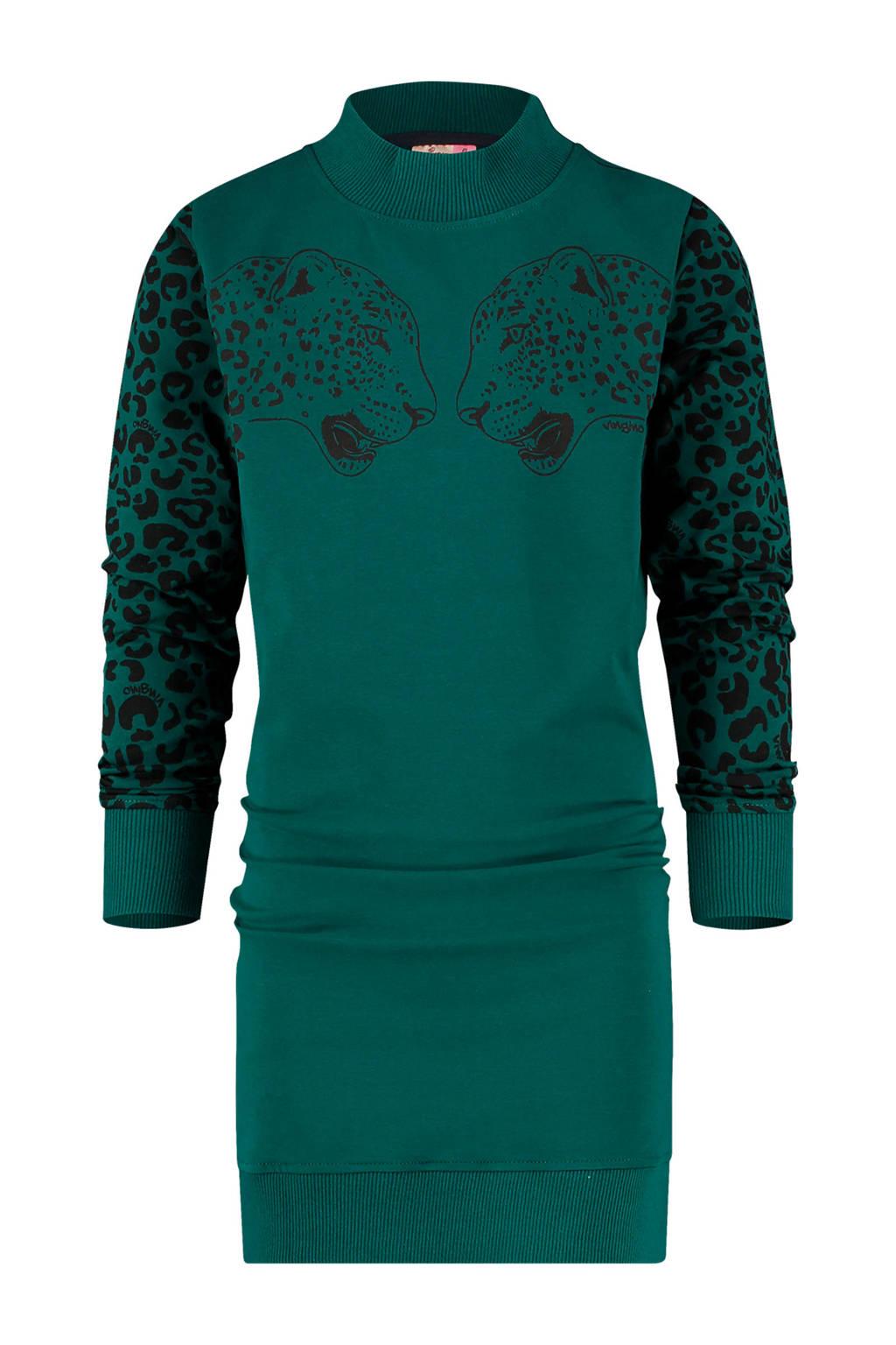 Vingino jersey jurk Palloes met printopdruk donkergroen, Donkergroen